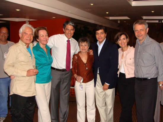 Sandra com a diretoria do Jornal Nacional, inclusive Alice Maria e