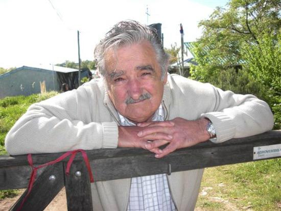 Pepe Mujica, 78 anos,  ex-guerrilheiro, amigo de Darcy Ribeiro