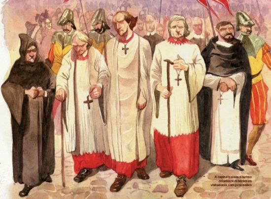 A inquisição atuou no Brasil por quase três séculos