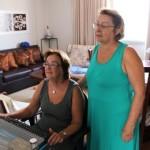 Zoraide (sentada) e Mafalda fizeram curso
