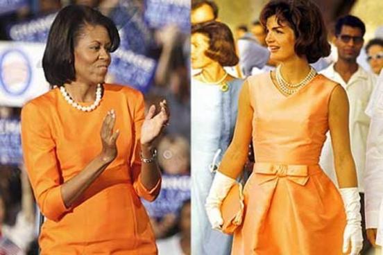 Há sempre comparação entre Michelle e Jacqueline Kennedy
