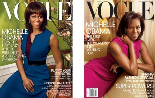 A primeira dama foi capa da revista Vogue duas vezes