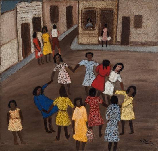 """O título desse quadro da artista carioca é """"Roda"""", pintado em 1950"""