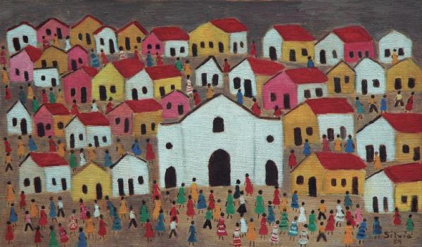 """""""Cidade"""", pintado pela artista em 1989"""