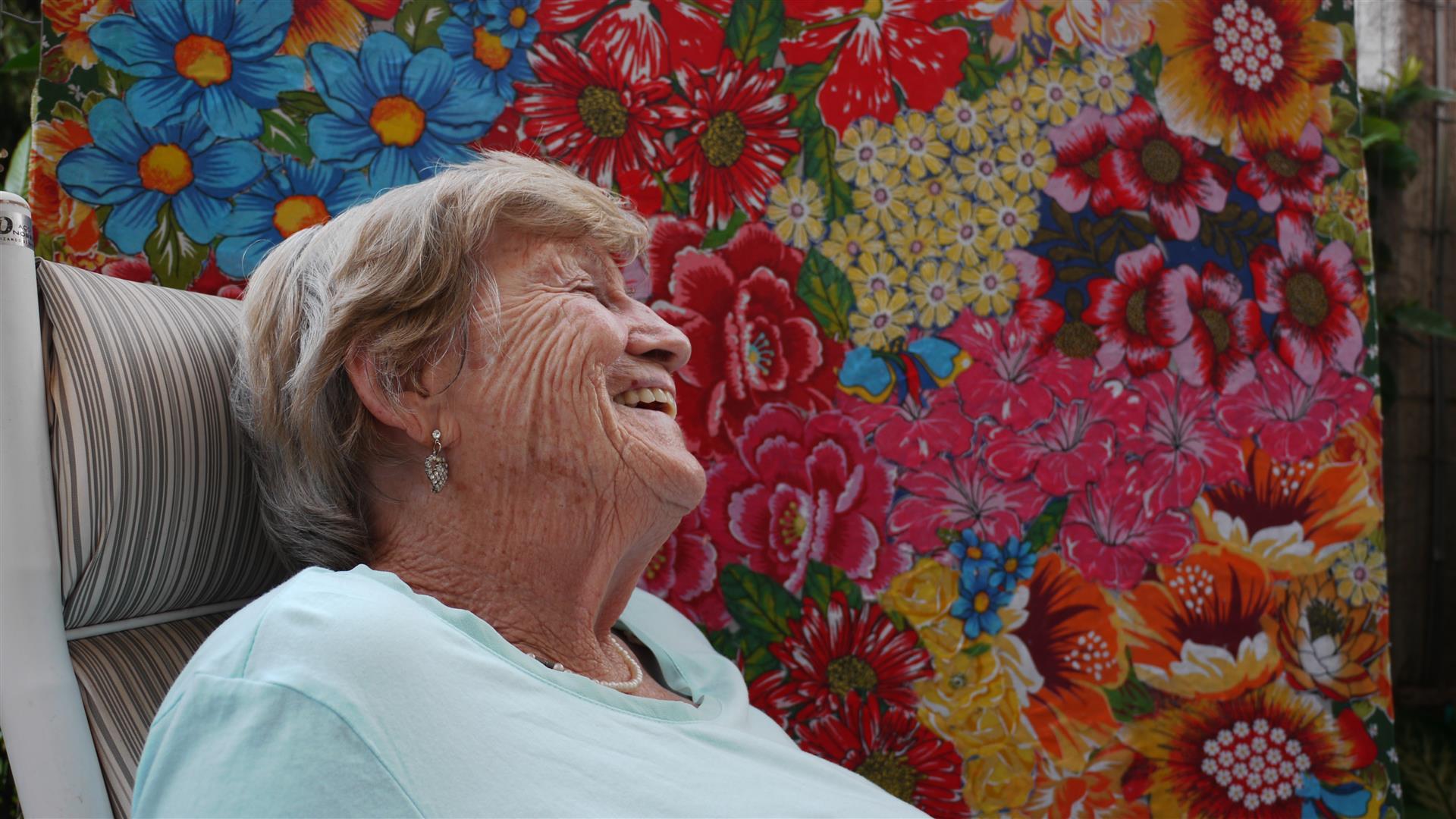 Tetê, 82, é um exemplo de vida, uma constante inspiração