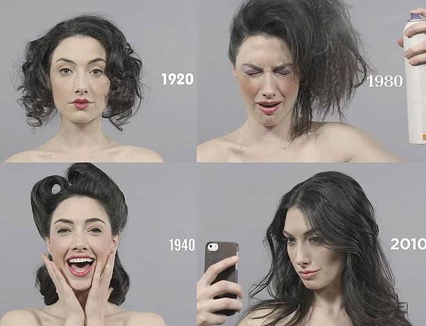 As transformações incríveis que a modelo vai sofrendo ao longo das décadas