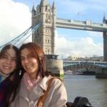 Eneide e Larissa Castanho escolheram Londres para aperfeiçoar o inglês