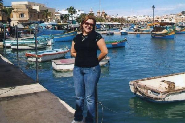 Eliane, 56 anos, passou quatro meses estudando em Malta