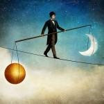 Costuma ser difícil a busca do equilíbrio interior