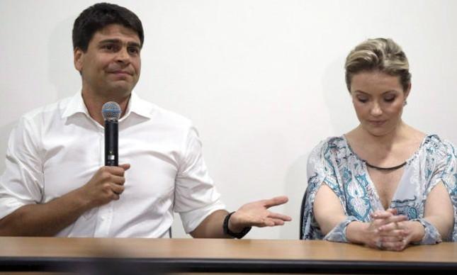 Pedro Paulo Carvalho, apoiado pelo prefeito Eduardo Paes, e a ex-mulher, Alexadra