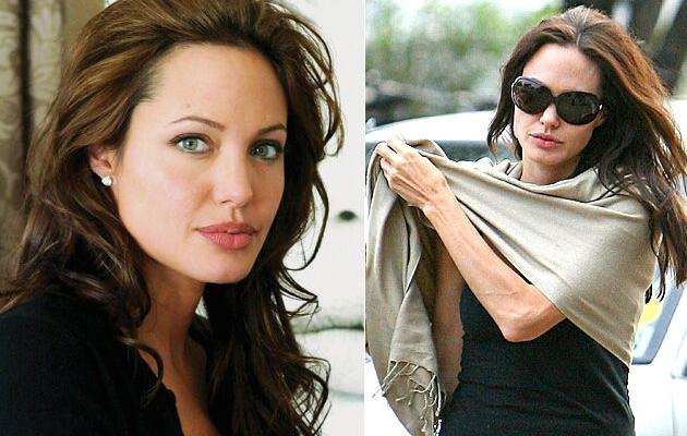 Angelina Jolie usa óculos apropriados para o formato do seu rosto triangular 4573c8f3e9