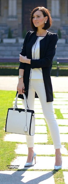 Branco e preto, uma combinação que sempre dá certo