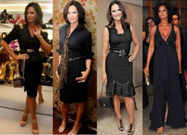 Luiza Brunet e sua bonita coleção de vestidos pretos