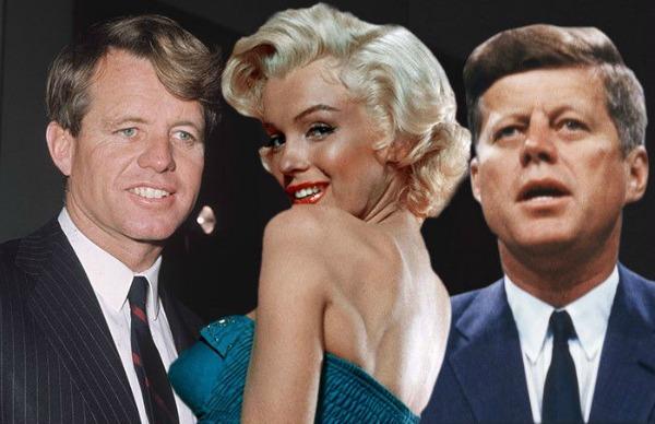 A atriz teria tido  caso com os irmãos Kennedy, John e Robert