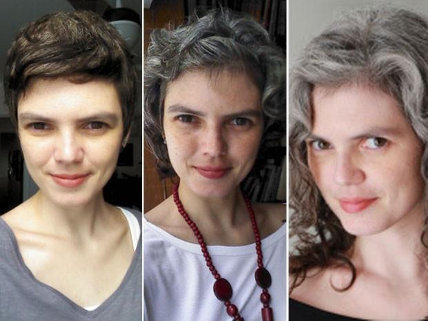 Elisa Colepicolo, de 34 anos, está há 2 anos sem tingir o cabelo