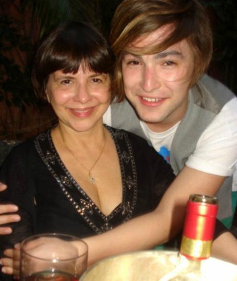 Com o filho, Sebastian Bailey