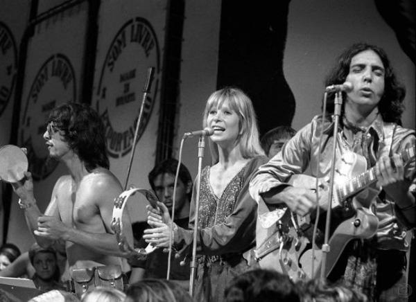 Os Mutantes. Arnaldo Baptista, Rita Lee e Sergio Dias, 05/02/1971 (Foto: Rodolpho Machado / Agência O Globo)