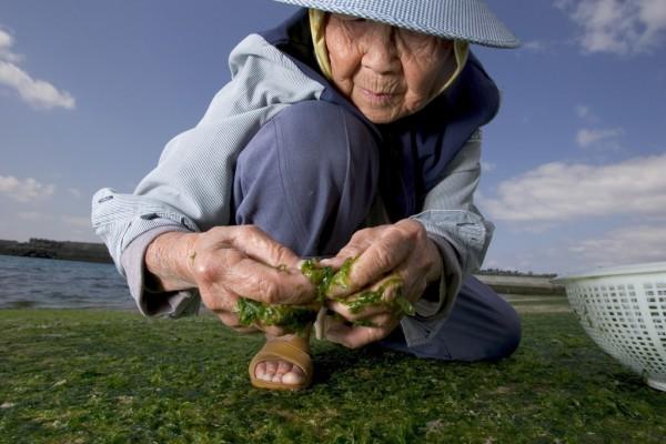 Uma moradora entenária das ilhas de Okinawa, no Japão
