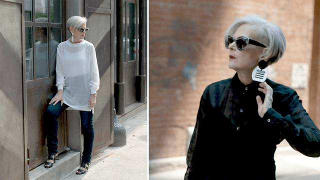 Lyn Slater, 63, criou seu blog de moda há dois anos