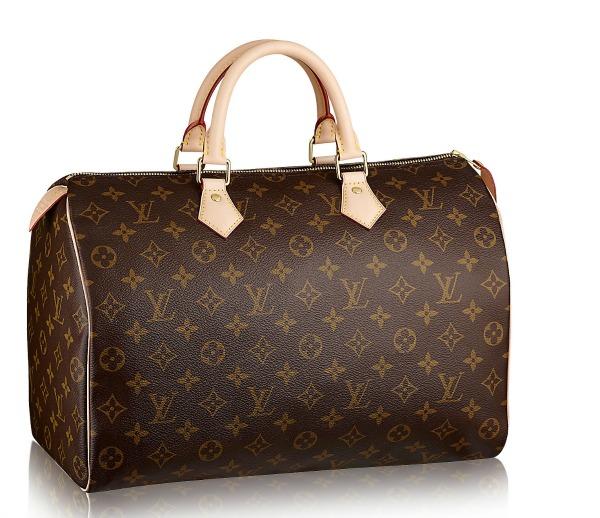A bolsa Speedy, da Louis Vuitton ficou em segundo lugar na preferência das mulheres