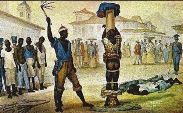 Outra ilustração de Debret mostra a crueldade dos castigos impostos ao negro