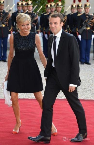 Os dois no dia da vitória: ele é o mais jovem presidente da França