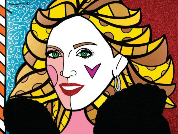 Outra celebridade retratada pelo pintor: Madonna