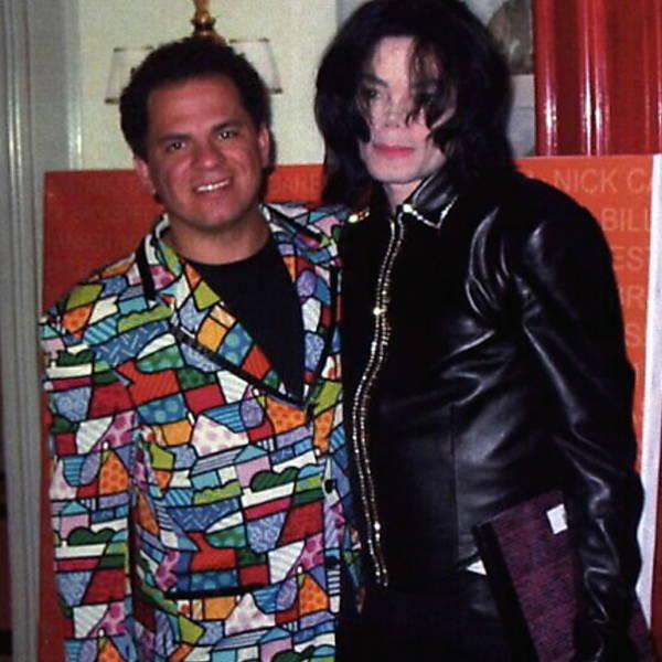 O artista brasileiro com Michael Jackson