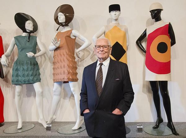 O estilista na inauguração do Museu Pierre Cardin, em Paris, em 2014