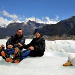Experimeentando os rigores do gelo, no extremo sul da América do Sul