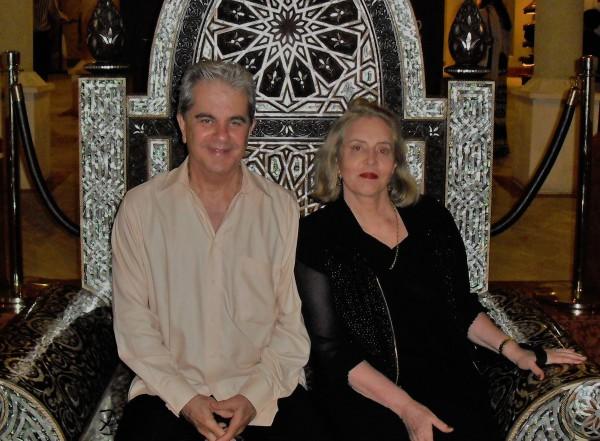 Ao lado do atual marido, Roberto Gouthier, um amor da juventude que reencontrou 40 anos mais tarde