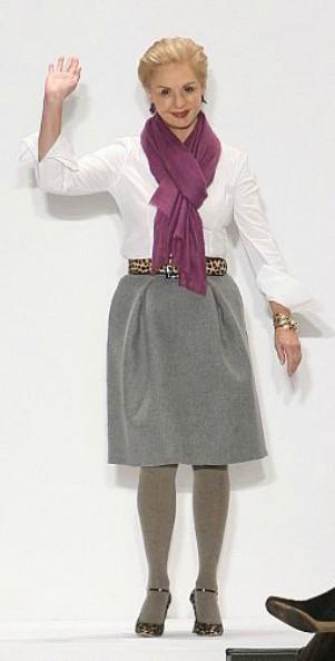 O estilo elegante é a marca da estilista
