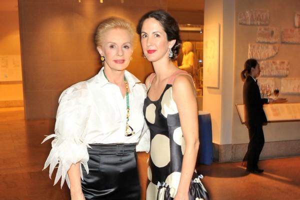 Com a filha e herdeira Patricia Herrera Lansing