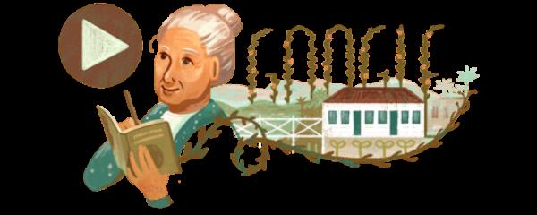 Homenagem do Google à poeta, que faria aniversário  neste domingo