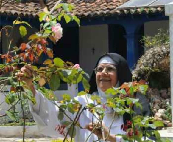 A abadessa Maria Imaculada de Jesus Hóstia, 78, vive no mosteiro há 62 anos