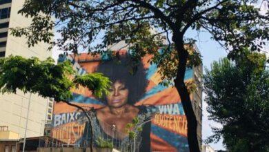 Foto de Homenagem bonita dos paulistanos a Elza Soares, à beira dos 90