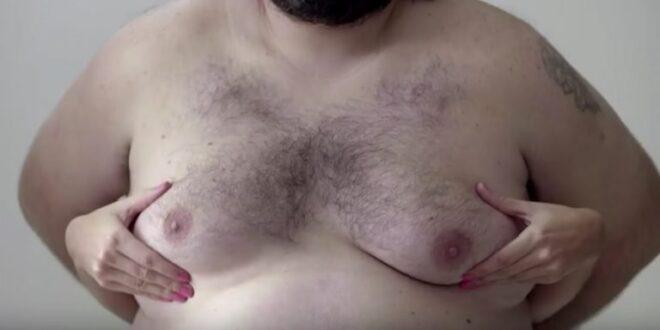 Anúncio de câncer de mama usa um homem para evitar censura